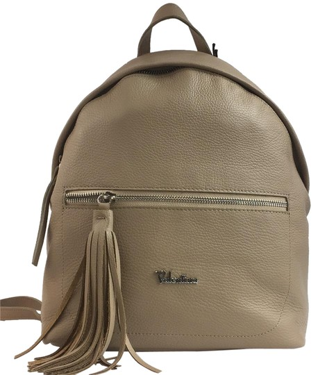 Preload https://img-static.tradesy.com/item/24670766/valentina-made-in-italy-fashion-purses-cream-genuine-leather-backpack-0-1-540-540.jpg