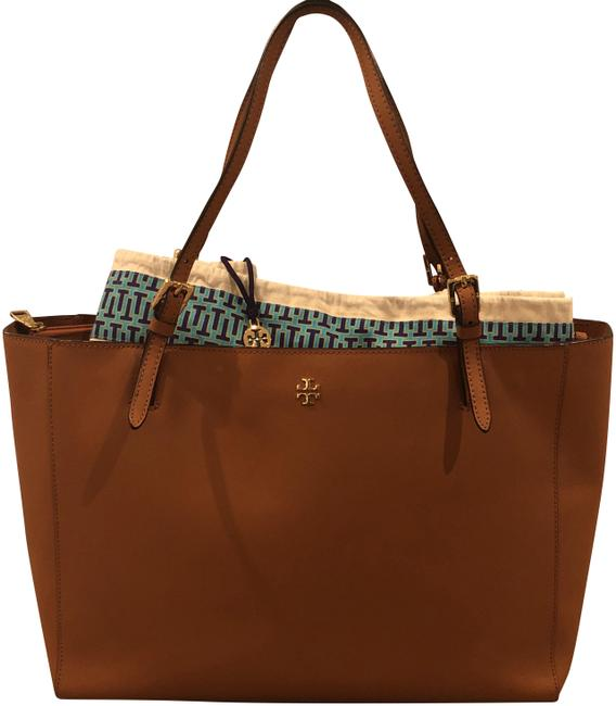 Item - Large Buckle Tote Tan Leather Laptop Bag