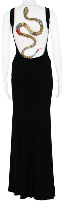 Preload https://img-static.tradesy.com/item/24670912/roberto-cavalli-black-snake-embellished-stretch-gown-long-night-out-dress-size-4-s-0-1-650-650.jpg