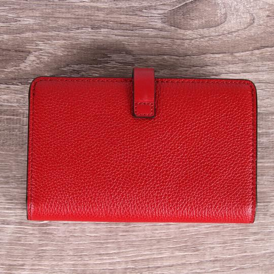 Michael Kors Adele Slim Bifold Merlot Pebbled Leather Wallet