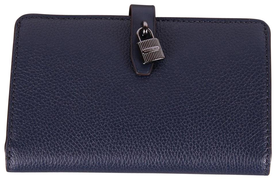 f971a290444a Michael Kors Adele Slim Bifold Merlot Pebbled Leather Wallet Image 0 ...