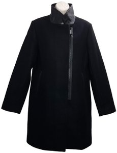 Trina Turk Wool Fashionable Classy Unique Trench Coat