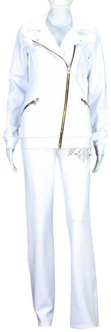 Preload https://img-static.tradesy.com/item/24671062/versace-white-women-s-gym-pant-suit-with-crystals-embellishment-activewear-sportswear-size-4-s-27-0-1-650-650.jpg