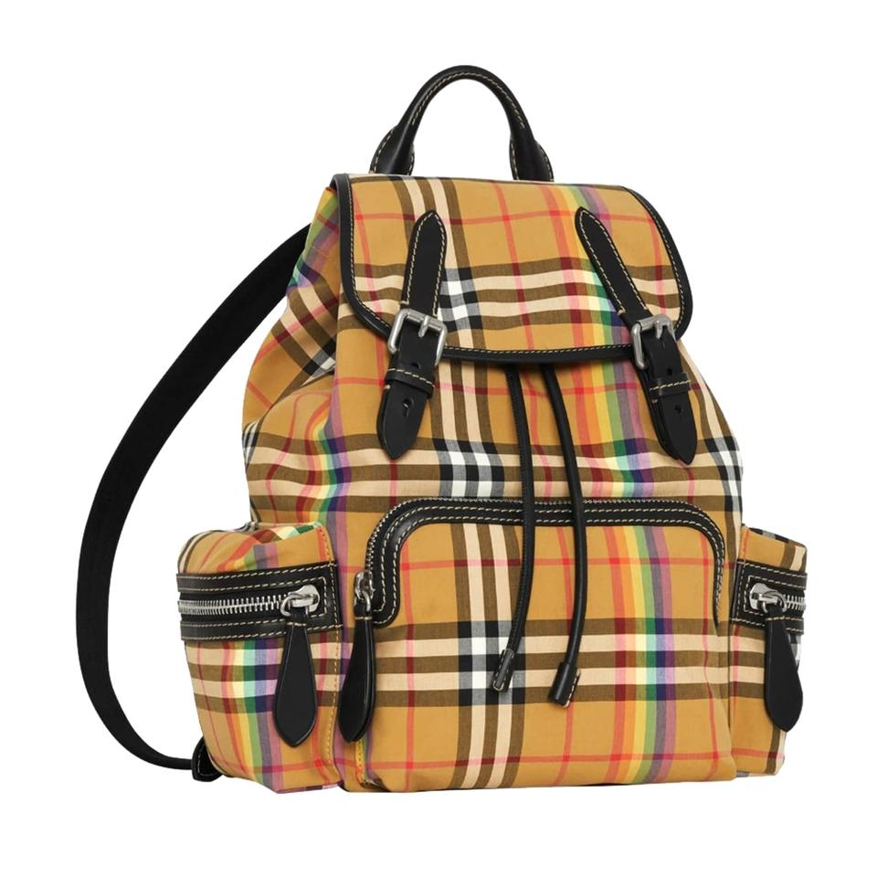 bca50be0e Burberry Medium Rucksack Vintage Check Antique Yellow Cotton with ...