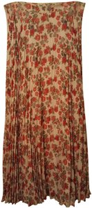 Daniel Cremieux Boho Floral Pleated Maxi Skirt Multi