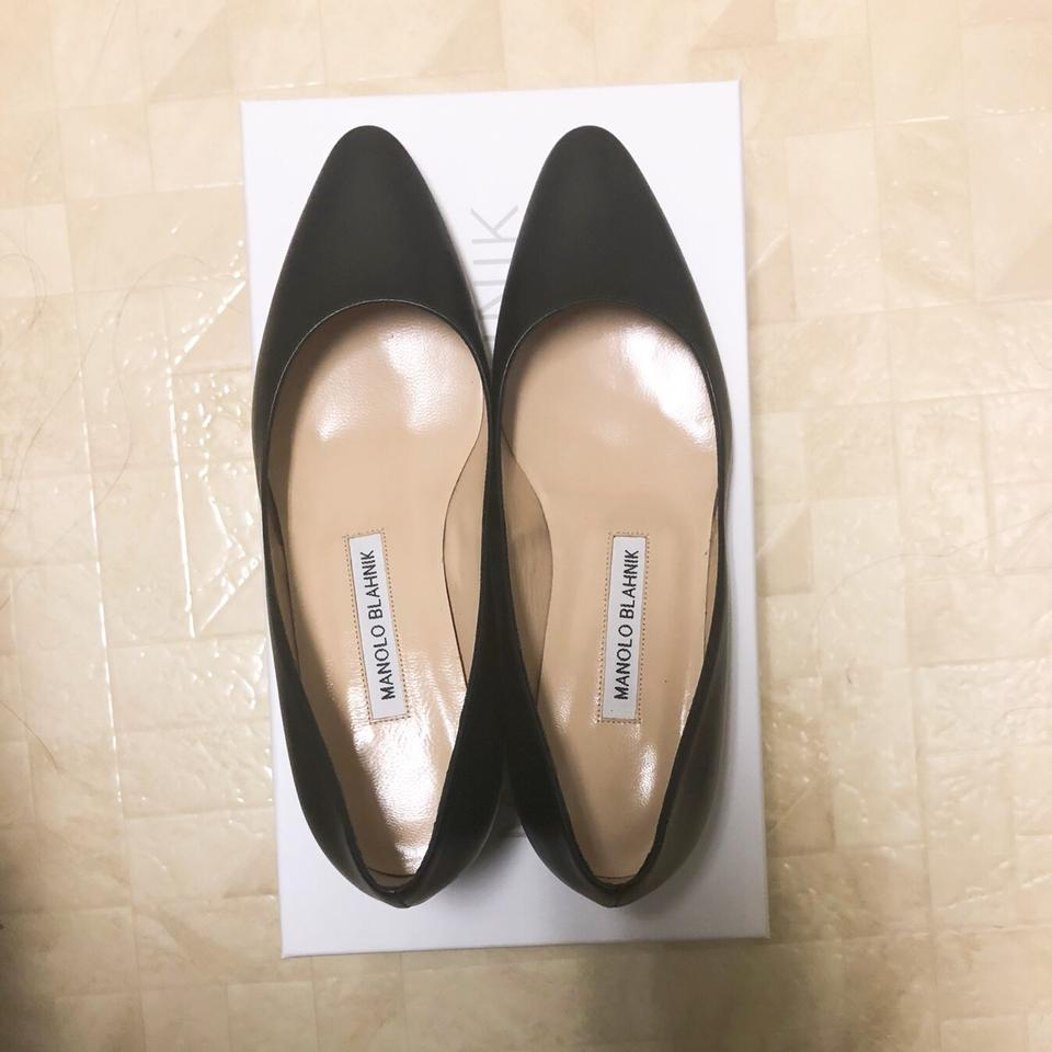 850cfb8626b57 Manolo Blahnik Black Listony Leather Low Heel Pumps Size EU 36.5 (Approx.  US 6.5) Regular (M, B) - Tradesy