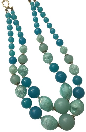 Preload https://img-static.tradesy.com/item/24671256/blue-and-green-bead-double-strand-necklace-0-1-540-540.jpg