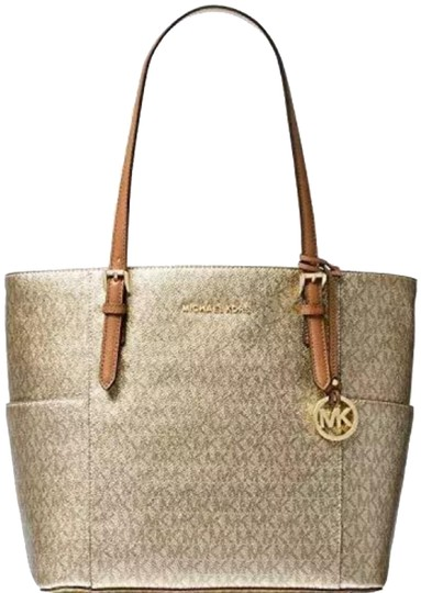 Preload https://img-static.tradesy.com/item/24671278/michael-michael-kors-jet-gold-coated-canvas-shoulder-bag-0-1-540-540.jpg