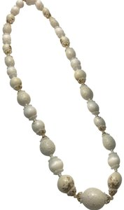 Vintage Vintage Coro white beaded necklace