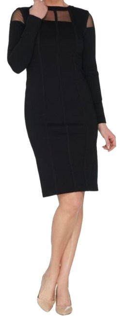 Preload https://img-static.tradesy.com/item/24671455/black-collection-ponte-with-sheer-short-casual-dress-size-18-xl-plus-0x-0-1-650-650.jpg