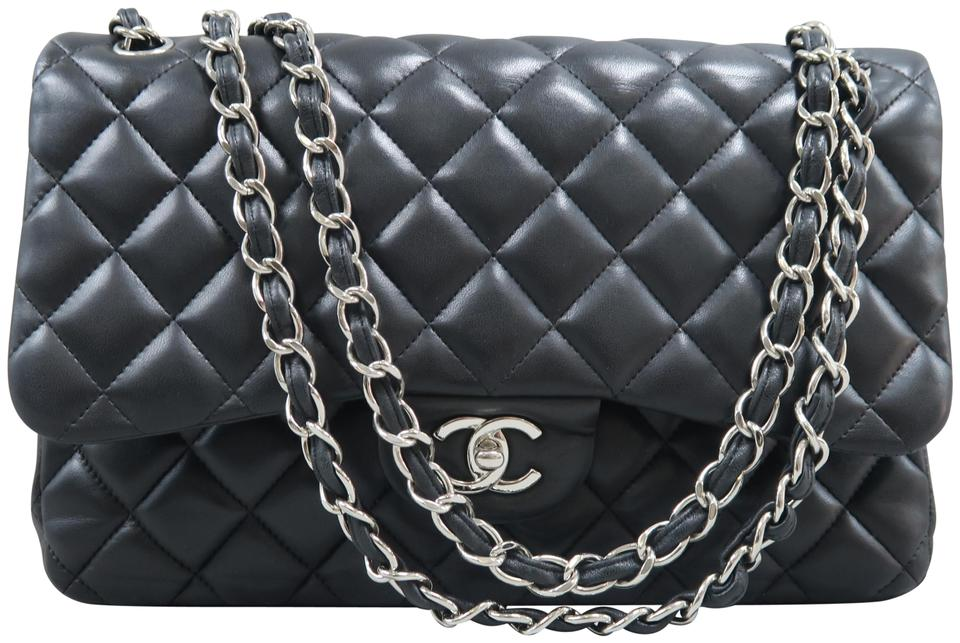 93de14dd2227 Chanel Lambskin Leather Jumbo Classic Flap Double Shoulder Bag Image 0 ...