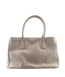 Prada Leather Dustbag Tote in Beige