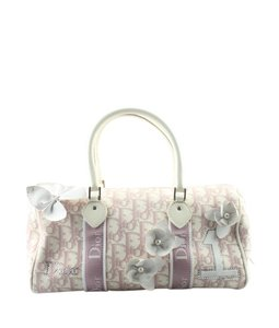 183b46cd422 Dior Canvas Pre-owned Christian Silver-tone Satchel in Pink
