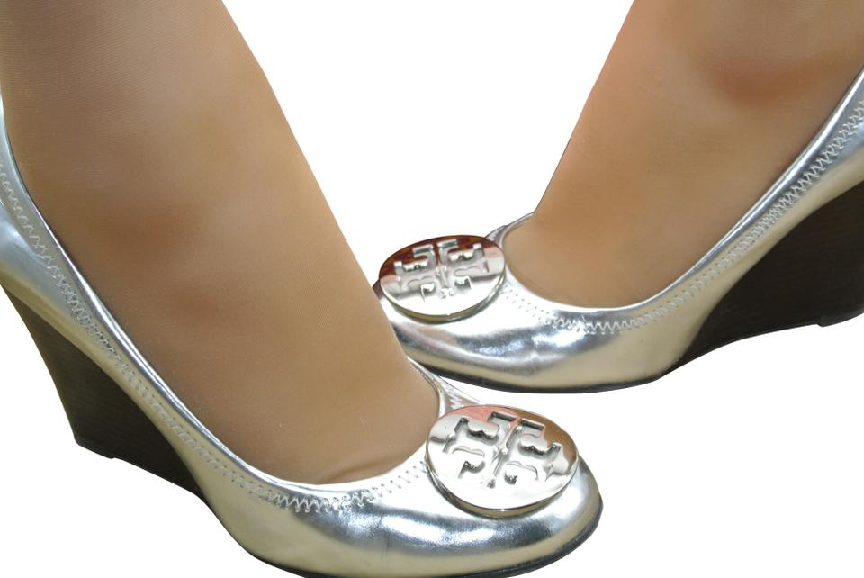 1c797ae74268 Tory Burch Silver Sophie Pumps. Size  US 7.5 Regular (M ...