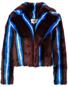 Diane von Furstenberg Faux Dvf Winter Fur Coat