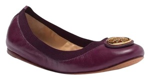 Tory Burch Plum/Black Flats