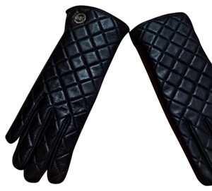 Michael Kors New Michael Kors Black Quilted Ladies Leather Gloves - Size Small