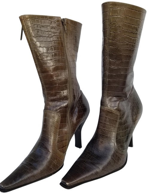 Item - Taupe Olive Seem Up Boots/Booties Size US 10 Regular (M, B)