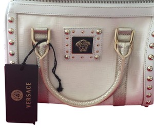 fa8e444c0733 Added to Shopping Bag. Versace Satchel in white. Versace White Leather  Satchel