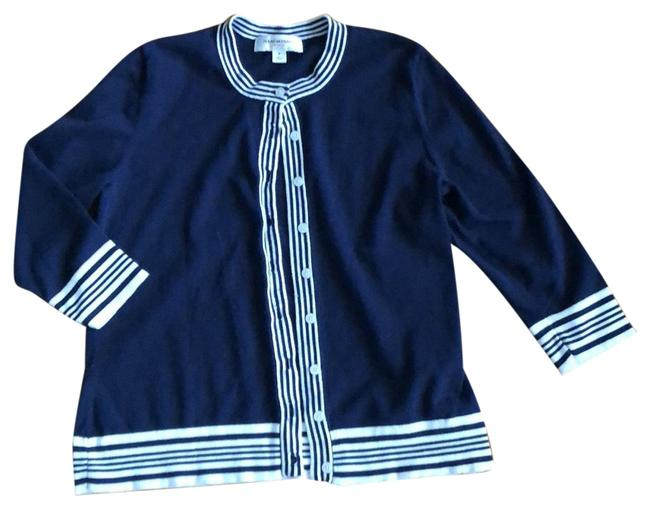 Item - Navy and White Cardigan Size 8 (M)