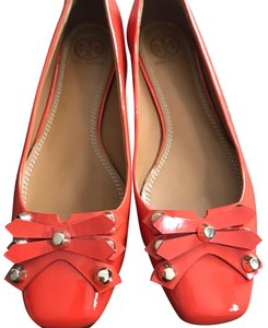 Tory Burch tangerine patent leather Flats