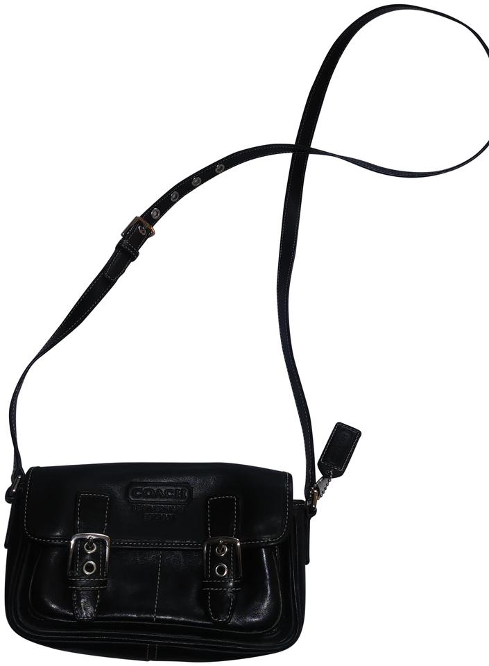 790789e77f Coach Crossbody  Shoulder Adjustable Strap. Black Leather Cross Body ...