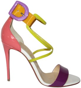 Christian Louboutin Red Sole With Box Ankle Cuff Pumps Heels Multicolor Sandals