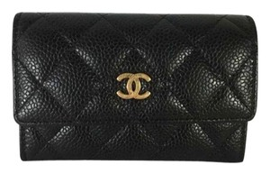 Chanel chanel quilted caviar coin purse