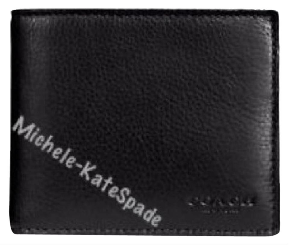 2ef1d3b6a640 Coach  175 NWT Compact ID Wallet In Sport Calf Leather F74991 Image 0 ...