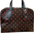 Louis Vuitton Satchel in Black, Red