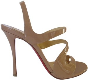 814ea9dd9609 Christian Louboutin Red Sole With Box Pumps Heels 100 Mm Nude Sandals