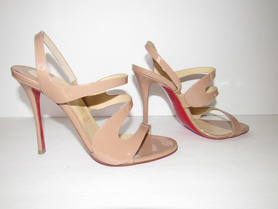 a5e94265a6f7 Christian Louboutin Nude Beige New Vavazou 100 Patent Leather ...