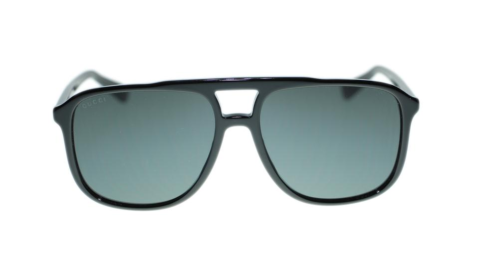 05e8b6a4801 Gucci Gucci Men s Sunglasses GG0262SA 001 Black Grey Lens Pilot Image 3.  1234