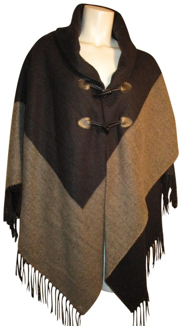 Preload https://img-static.tradesy.com/item/24673731/black-and-tangray-fringed-ponchocape-size-os-one-size-0-1-650-650.jpg