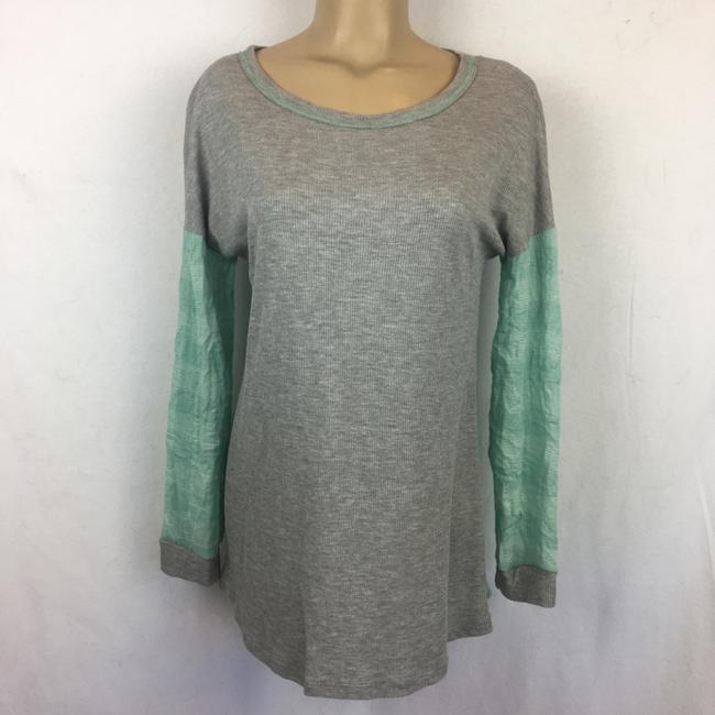 Anthropologie T Shirt Gray/Blue Image 3