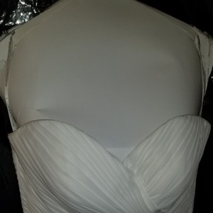 Moonlight Bridal White Polyester T656 Traditional Wedding Dress Size 10 (M)