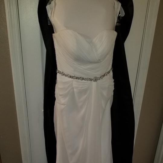 Moonlight Bridal White Polyester T656 Traditional Wedding Dress Size 10 (M) Image 4