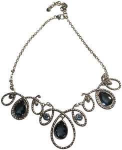 Brighton BRIGHTON NECKLACE/COLLAR ABUNDANT - SILVER PLATED BLUE CRYSTALS