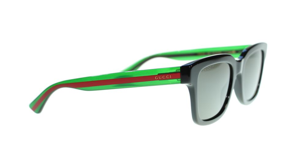 a9d29c6b1b9a Gucci Gucci Men Square Sunglasses GG0001S 006 Black Green/Grey Polarized  Image 4. 12345