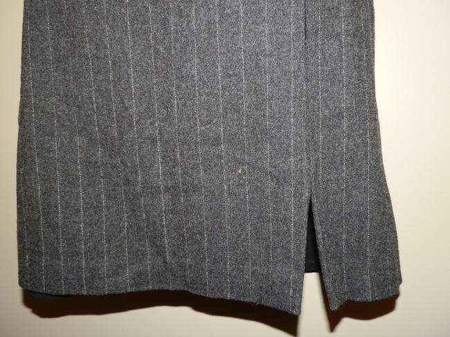 Banana Republic Stretchy Lined Wool Skirt Gray w/White Stripe Image 2