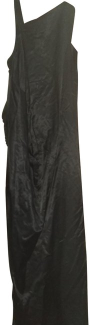 Item - Black S Thick Fabric Assymetryc Draped Long Casual Maxi Dress Size 6 (S)