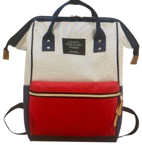 On The Go red blue white Diaper Bag