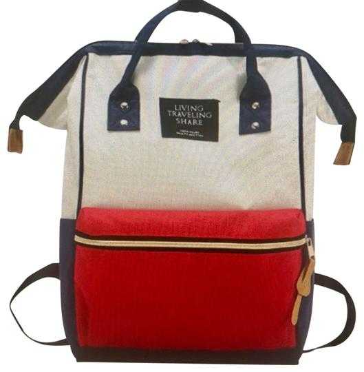 Preload https://img-static.tradesy.com/item/24674093/nautical-backpack-shoulder-purse-red-blue-white-diaper-bag-0-1-540-540.jpg