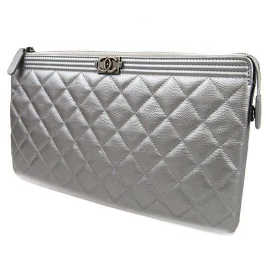 Chanel Silver Clutch Image 1
