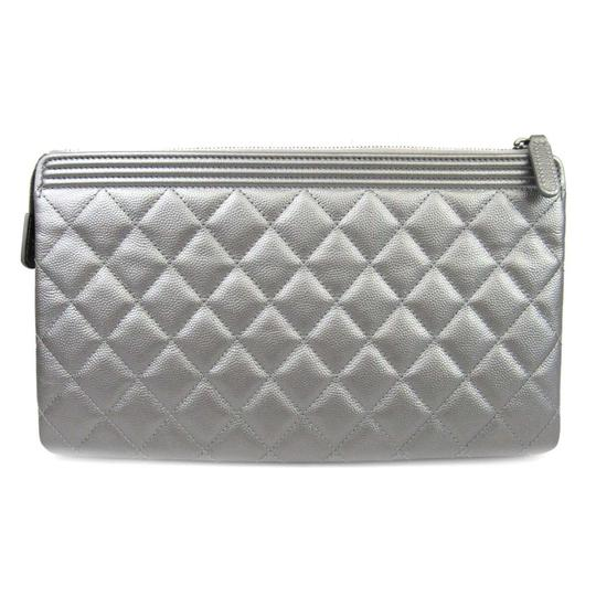 Chanel Silver Clutch Image 2