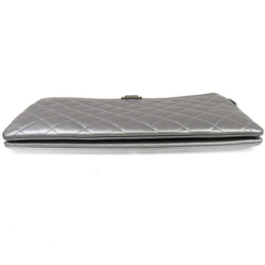 Chanel Silver Clutch Image 3