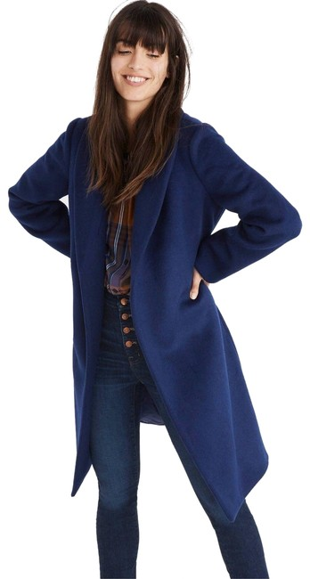 Preload https://img-static.tradesy.com/item/24674150/madewell-blue-shawl-collar-wrap-night-sky-coat-size-8-m-0-1-650-650.jpg