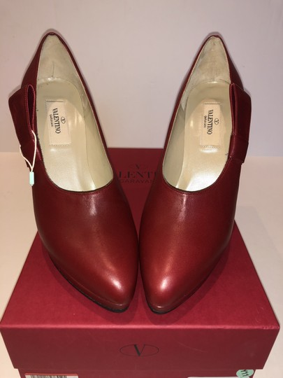 Valentino Leather Red Pumps Image 1