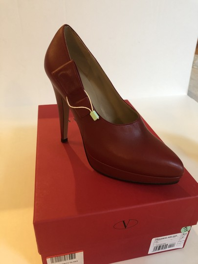 Valentino Leather Red Pumps Image 2