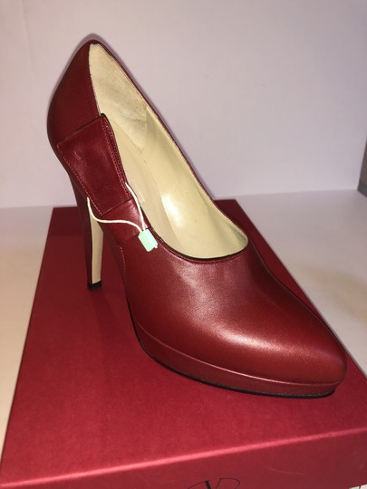 Valentino Leather Red Pumps Image 4